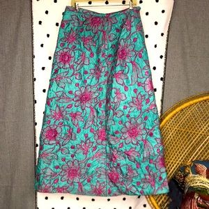 Vintage Quilted Maxi Skirt
